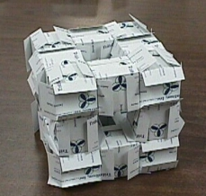 Level one Menger sponge.